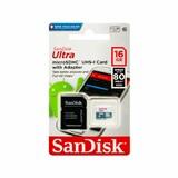 Карта памяти Sandisk Ultra microSDHC 16GB 80MB/s Class 10 UHS-I + SD Adapter